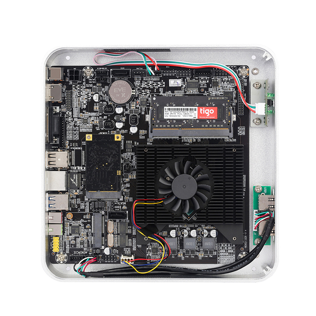 Computer Case PC Gamer Mini ITX Safe Cabinet HTPC Case Desktop Gaming All-aluminum Slim Chassis 4