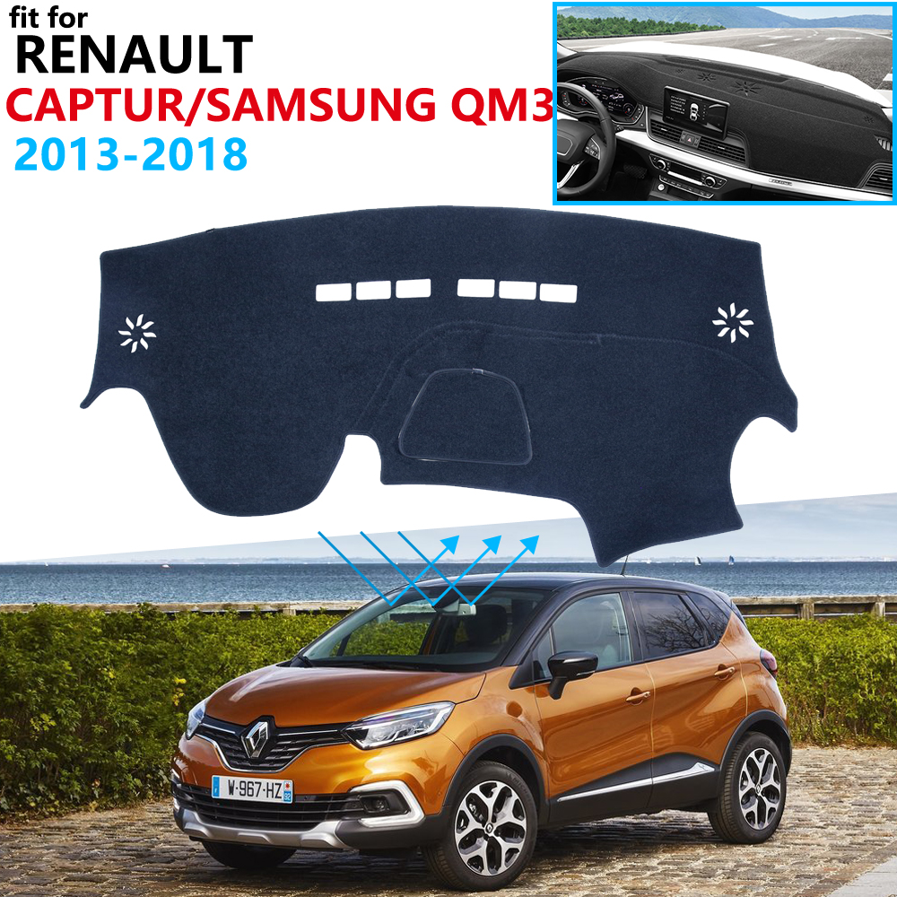 Dashboard Cover Protective Pad For Renault Captur 2013~2018 Samsung QM3 Car Accessories Dash Board Sunshade Carpet 2016 2017