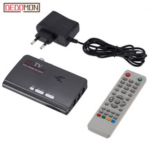 DVB T/DVB T2 odbiornik tunera TV DVB T/T2 TV, pudełko VGA AV CVBS 1080P HDMI cyfrowy odbiornik satelitarny HD z pilotem