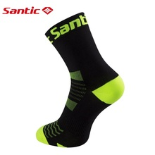 Santic Cycling Socks Men Women Bike Bicycle Socks Breathable Anti-sweat Outdoor Sports Ciclismo Colors One Size 6C09054