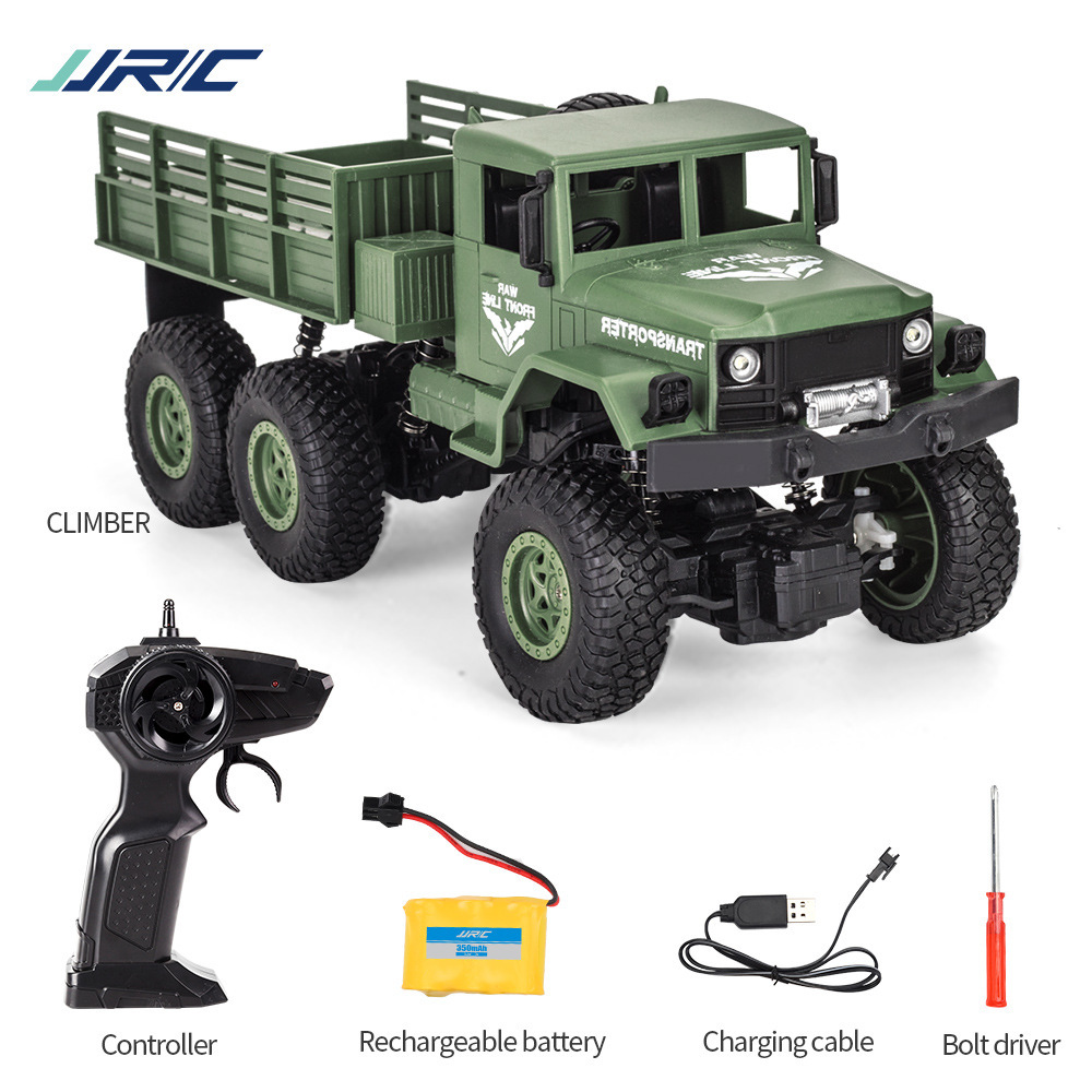 Jjrc Truck Q68 1/18 6wd 2.4g Remote Control Military Trucks Off-road Army Electric Vehicle Four-drive Military Toys For Kid Gift