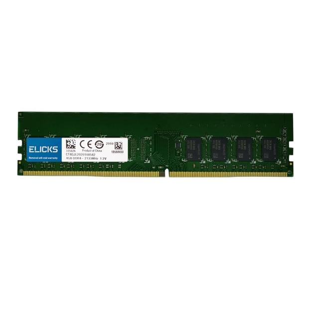 Elicks DDR4 RAM 4GB 8GB 16GB 2133MHZ 2400MHZ 2666V PC4 17000MHZ 19200MHZ 2666V Desktop DIMM memory RAM CL17 1.2V voltage