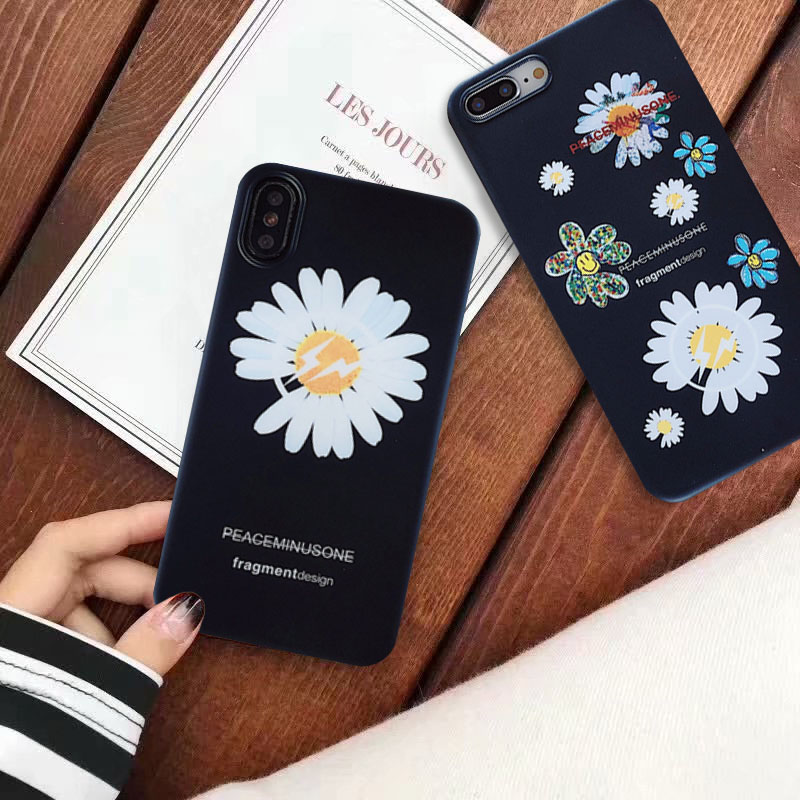 Fashion peaceminusone Fragment flower Phone <font><b>Case</b></font> for <font><b>Samsung</b></font> Galaxy S10 S9 <font><b>S8</b></font> Plus S10e Note 8 Note 9 <font><b>Korean</b></font> Soft Silicone Cover image