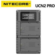 NITECORE UCN2 Pro podwójne gniazdo USB QC LP E6 LP E6N ładowarka do DSLR 60D 5D3 7D 70D 5D Mark II lustrzanka baterii