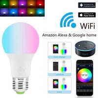 1/3pcs E27 WiFi Bulb Intelligent LED Light 4.5W / 6.5W RGB Magic Light Compatible with Alexa Google Smart Home Family Wake-up