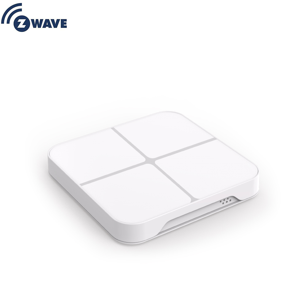Haozee Smart Home Z-Wave Plus Wireless Wall Switch 4 Button 16 Scene Remote Control EU 868.4MHZ ZWAVE