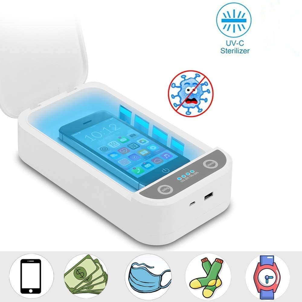 Portable UV Light Cell Phone Sterilizer Toothbrush Disinfection Box  Cleaners UV Light Sterilizer For IOS Android Smartphones