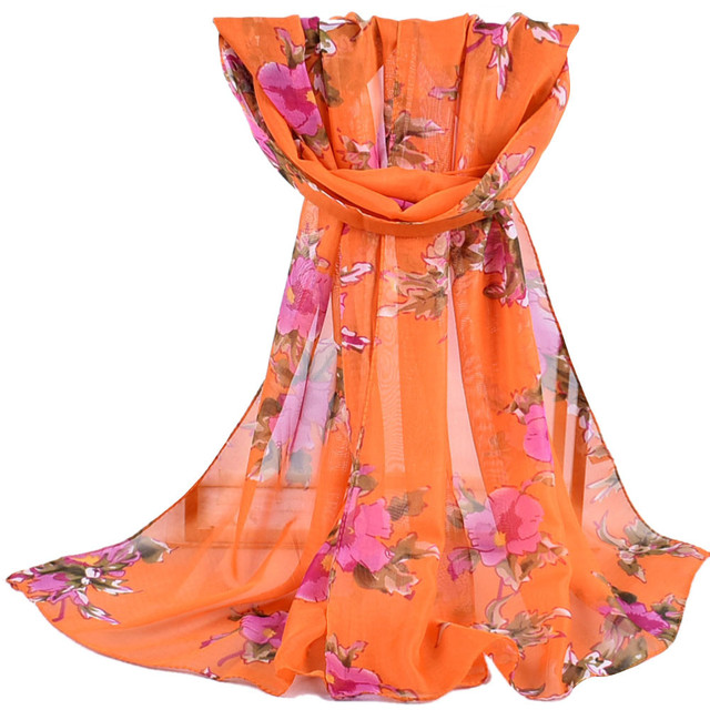 2020 new autumn Winter Women Printed Soft Chiffon Shawl Wrap Wraps Scarf Scarves Ladies pastoral chiffon scarves scarves  #927 8