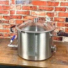 25L Pot, kazan, tankı, Fermenter çan kapak damıtma, düzeltme, sıhhi çelik 304