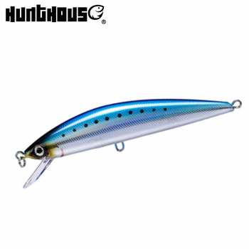 Hunthouse pintail tuna minnow fishing lure 12cm 44g hard artificial bait japan hook for game super sinking minnow lures sea lure trulinoya magnet is centrifuged super minnow simuation fish 65mm 5 5g lure water hard bait fishing lure hook fishing