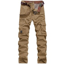Cargo Men Pants Autumn Winter Thick Big Pockets Desgin Full