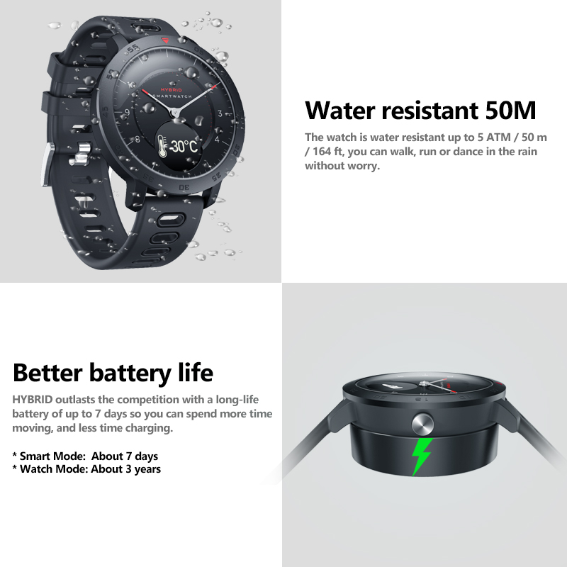 NEW Zeblaze Hybrid Smartwatch Heart Rate Blood Pressure Monitor Smart Watch Exercise Tracking Sleep Tracking Smart Notifications 2