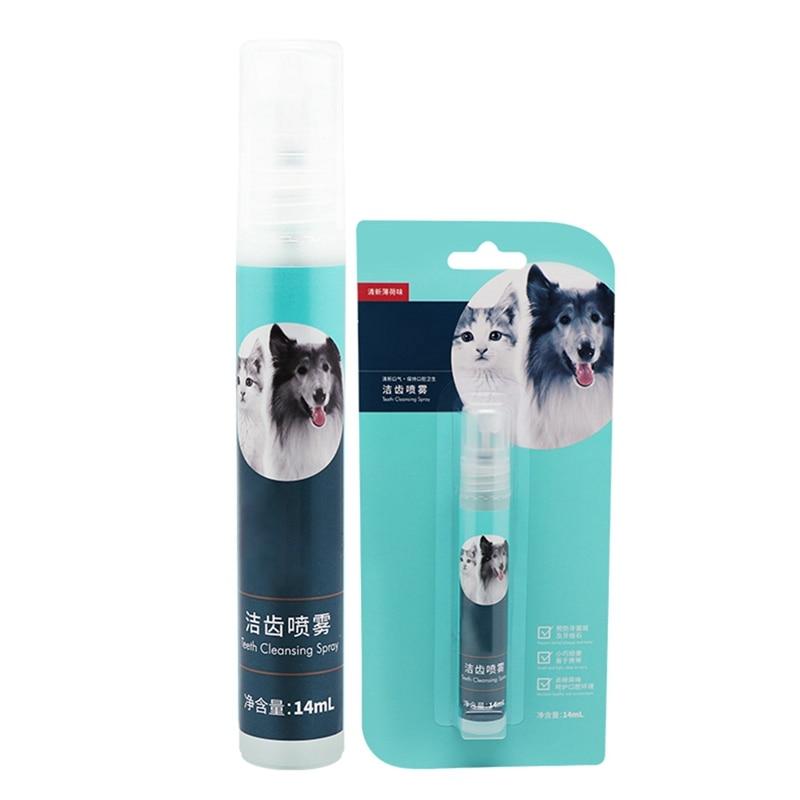 14 Ml Cat Dog Fresh Oral Spray Breath Freshener Safe Remove Odor Pet Cleaning Supplies