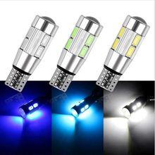 цена на 2PCS Car Styling Car Auto LED T10 Canbus 194 W5W 10 SMD 5630 LED Light Bulb No Error LED Light Parking T10 LED Car Side Light