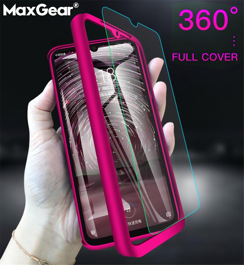 360 Full Cover Phone Case For Xiaomi A3 MIX3 Mi 8 9 Redmi Note 9 Pro 5 6 7 8 8T 9S K20 S2 5A 6A 7A 8A Hard PC Glass Cover Fundas