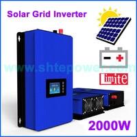 DC 45 90V input 2000W Solar inverter Gird Tie system MPPT Second Generation power inverter,Wifi plug and limiter sensor options