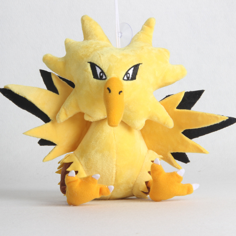 1pcs Kawaii Zapdos Plush Toys Doll Cute Anime Zapdos Plush Toy Soft Stuffed Toys For Children Kids Xmas Gifts