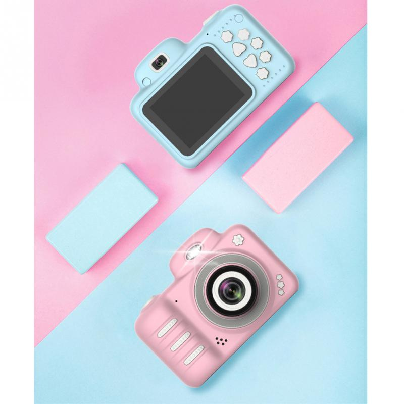 2.4 Inch Screen With Memory Card Toys Shockproof Camcorder Dual Lens ABS Kids Digital Gifts DSLR Mini Camera Video Cartoon