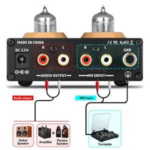 Image 4 - Douk MM Phono Turntable Amplificador de áudio Mini HiFi Stereo Amplificador de Tubo De Vácuo De Áudio