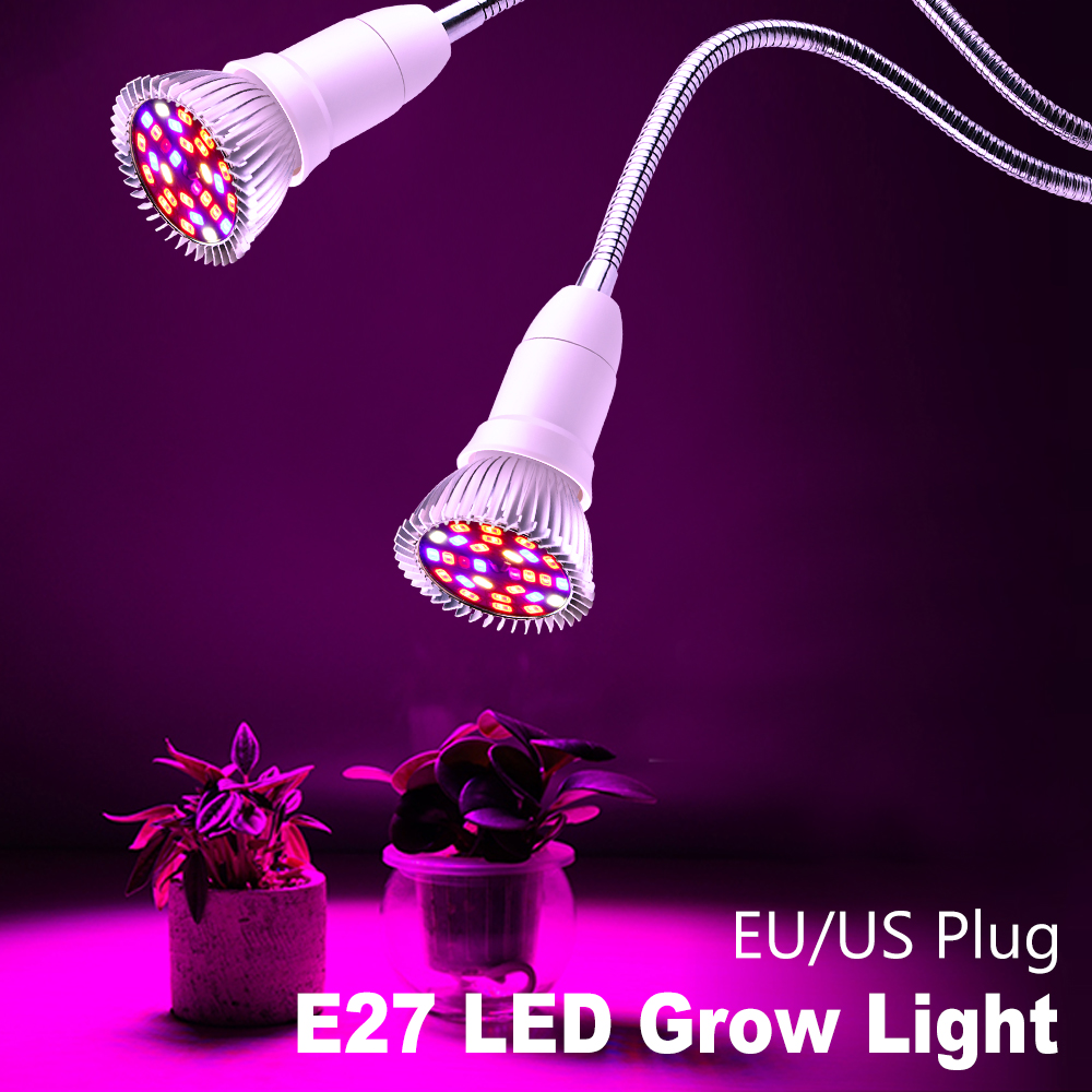 Phyto E27 LED Grow Lights Full Spectrum Fitolampy Phyto Lamp 220V Greenhouse Flowers Vegetable Plant Tent Box Fitolamp Grow Bulb