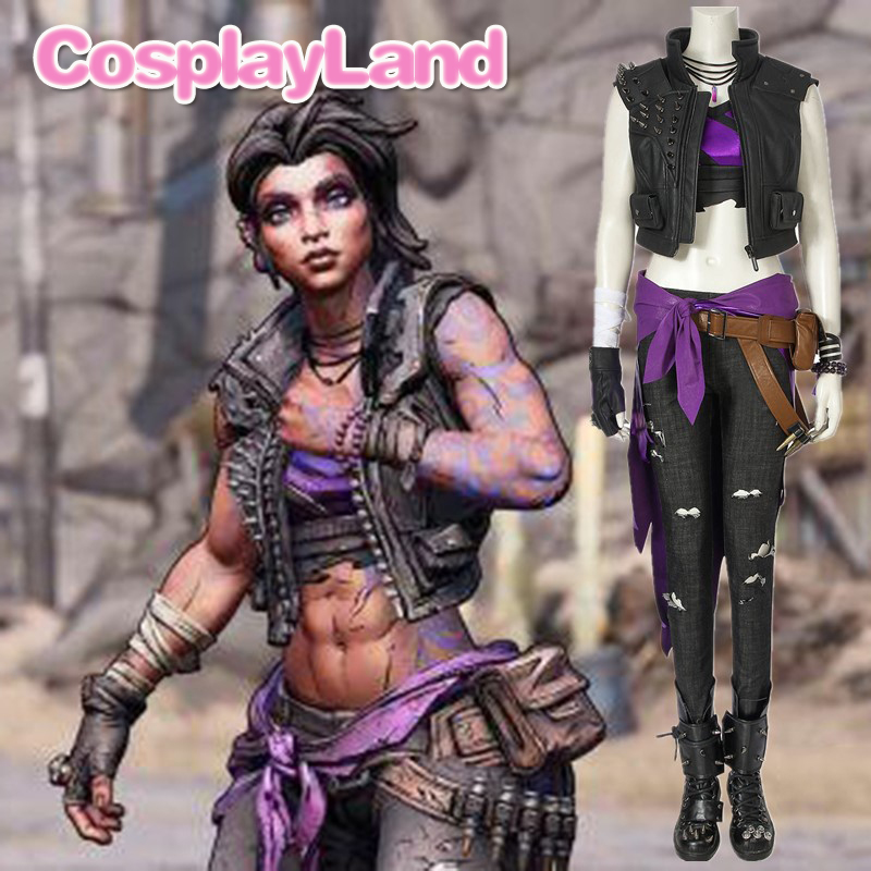 <font><b>Borderlands</b></font> 3 Cosplay Outfit Shooting Game <font><b>Costume</b></font> <font><b>Borderlands</b></font> Amara Cosplay Suit Boots Custom Made Adult Cosutme Jacket Gloves image
