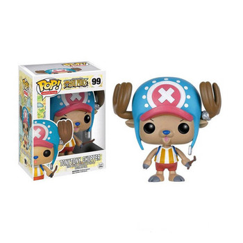 FUNKO POP Anime ONE PIECE Luffy Chopper ACE LAW FRANKY Action Figure Toys Decoration Models Collections for Kids Christmas Gifts 6
