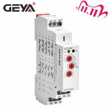 משלוח חינם GEYA GRT8 M 16A תכליתי טיימר ממסר עם 10 פונקצית אפשרויות AC DC 12V 24V 220V 230V זמן ממסר