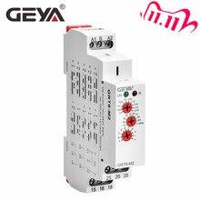 Ücretsiz kargo GEYA GRT8 M 16A çok İşlevli zaman rölesi 10 fonksiyonu ile seçenekleri AC DC 12V 24V 220V 230V zaman rölesi
