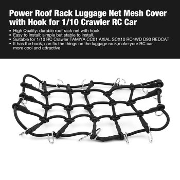 T-Power Roof Rack Luggage Net Carrier Mesh Cover with Hook for 1/10 Crawler RC Car Crawler/ CC01/ AXIAL /SCX10/RC4WD/D90 image
