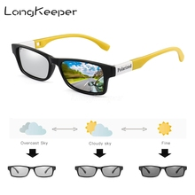 LongKeeper 2020 Photochromic Rectangle Sunglasses Men Polari