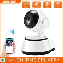 BESDER 1080P Wifi Pan/Tilt Smart Ip Camera HD 1.0MP Indoor Baby Pet Wireless Two Way Audio Home Security Camera Support SD Card