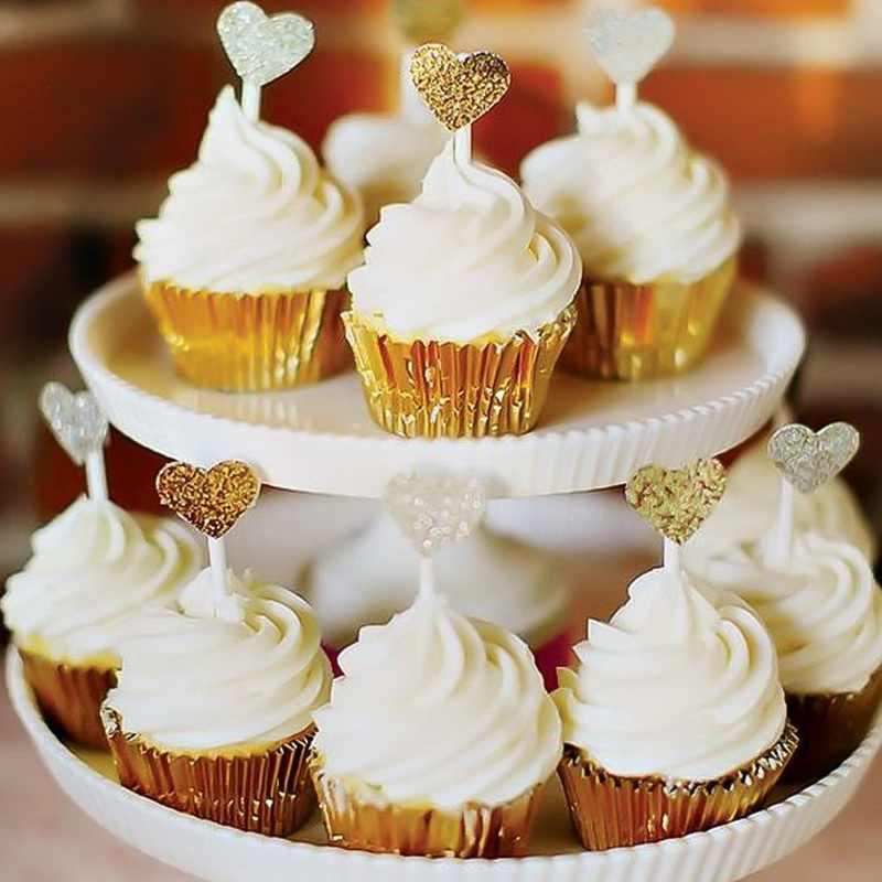 Mini Rainbow 100 PC Cupcake Liner Baking Cangkir Cupcake Kue Muffin Kertas Kotak Egg Tart Tray Aksesoris Dapur Alat 25