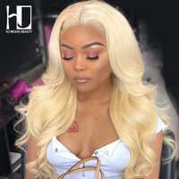 Blonde Lace Front Wig Peruvian Body Wave Remy Hair Pre Plucked With Baby Hair Transparent Lace Front Human Hair Wigs