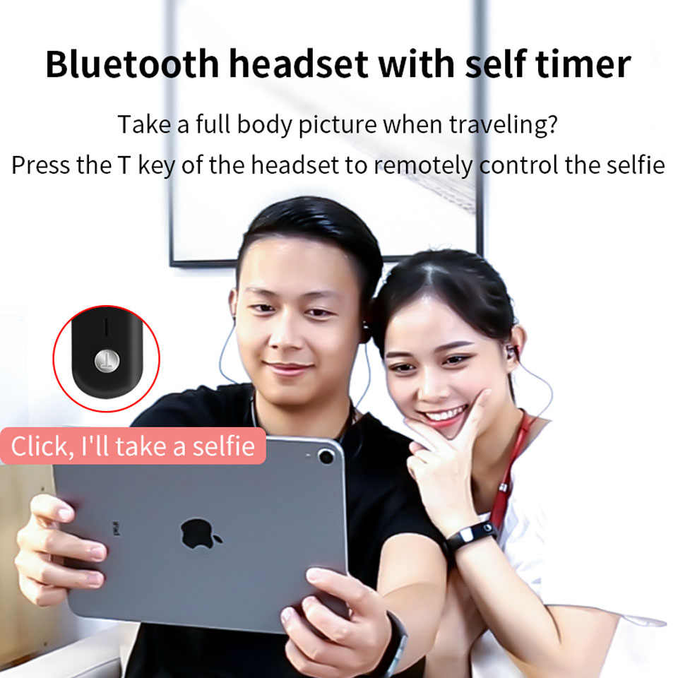 Tws 5 0 Bluetooth Interconnection Earphone Photo Taking Magnetic Absorption Phone Compatible Headphone 2020 New Aliexpress