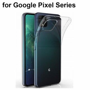 Funda de silicona TPU transparente resistente a los arañazos para Google Pixel 4 3A 3 XL 2 ultrafina