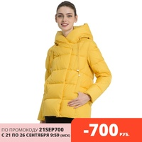ICEbear 2019 New Winter Women's Coat High Quality Brand Clothing Casual Woman Winter Jacket Hooded Female Parkas GWD19011I