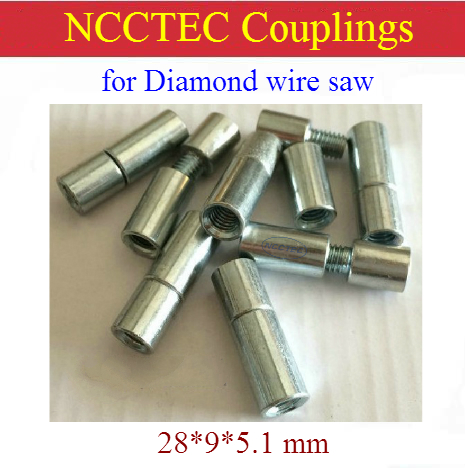Movable Couplings Connectors Joints Connecting Sleeves For Diamond Wire Saw Accessories Combination Parts Blocks Squaring