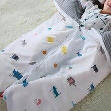 Спальный мешок для младенцев, детское пуховое одеяло, пододеяльник для новорожденных, хлопковые съемные детские постельные принадлежности