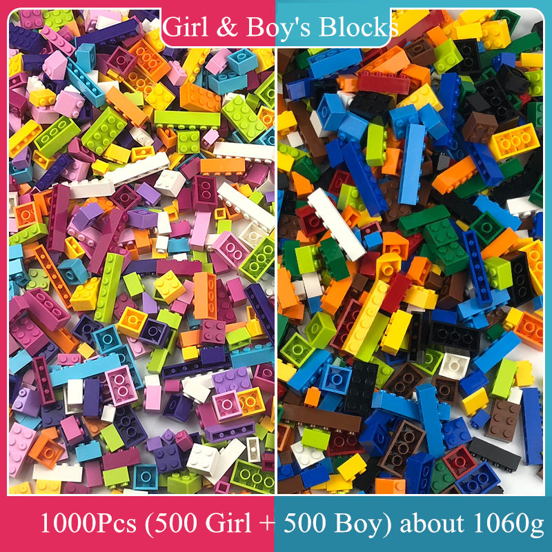 Hot <font><b>1000Pcs</b></font> DIY Building Blocks with Accessories Kit Compatible Brand Double-Sided Baseplate for Small Brick Base Plate Wall image