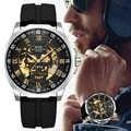 Акула спортивные часы мужские модные 3D череп дизайн SAS щит якорь винтажные механические часы силиконовый ремешок Скелет Wirst часы