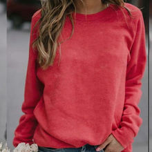 Повседневная Женская футболка с длинным рукавом и круглым вырезом