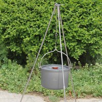 Outdoor Camping Tripod Durable Portable Outdoor Camping Picnic Cooking Tripod Hanging Pot Campfire Grill Stand with Storage Bag