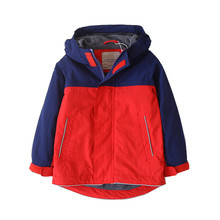 Casual Waterproof Patchwork Child Coat Warm Fleece Baby Girls Boys Jackets Children Outerwear Kids Outfits For Autumn 90-160cm