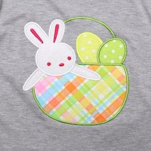 Image 5 - Пасхальный кролик детская одежда бутик хлопковая одежда Вышивка Одежда
