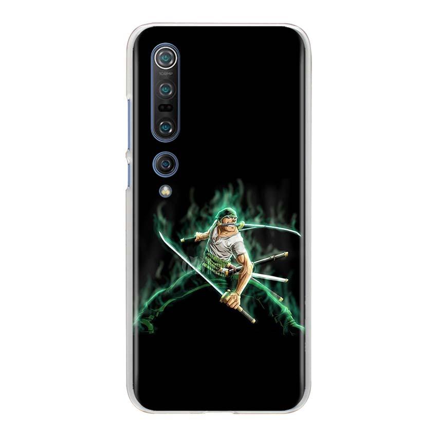 One Piece Roronoa Zoro Hard Case For Xiaomi Mi 10 Pro 5G CC9 CC9E A1 A2 9 Lite 8 Lite Note 10 Pro Pocophone F1 X2 Cover Capa