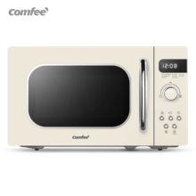 Микроволновая печь comfee в белом ретро стиле 800 Вт 20 л 8