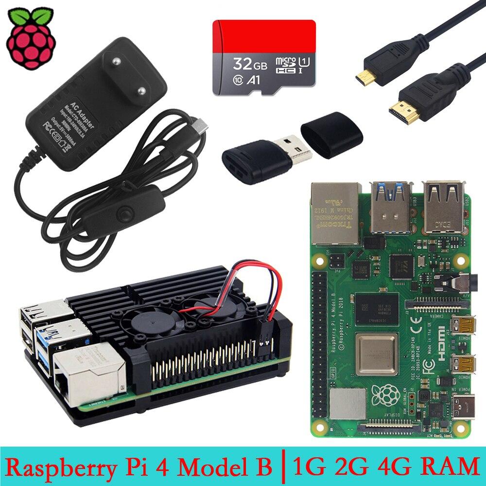 Raspberry Pi 4 modèle B 1G 2G 4G RAM 4 Core 2.4G & 5G WiFi Bluetooth 5.0 4K Micro HDMI RPI 4B mieux que Raspberry Pi 3 3B Plus