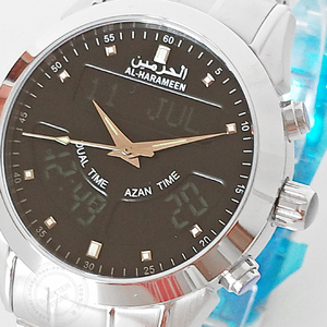 Image 2 - Muslim Azan Watch 6102 WA 10 32mm Stainless Steel Automatic Mosque Prayer Clock for All Muslim friend