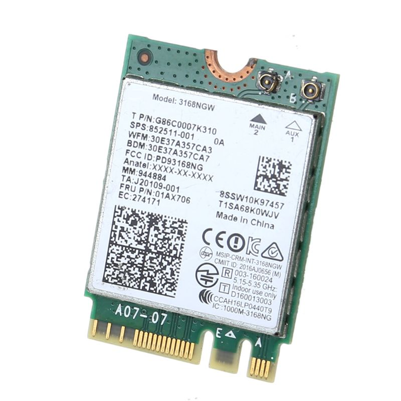 For Intel 3168 AC 3168NGW NGFF M.2 802.11ac Wireless Wifi Card Dual Band Adapter 83XB
