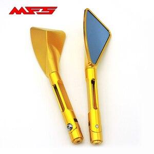 Для Kawasaki z750 z900 z800 er6n z1000 Ninja 300 250 650 Универсальный 8 мм 10 мм аксессуары для мотоциклов Зеркала заднего вида голубое стекло